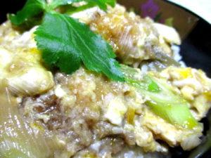 アジフライの卵とじ丼