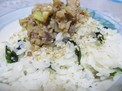 いわしの生姜味噌ご飯