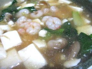 小エビと豆腐のうま煮