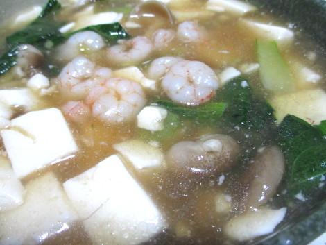 小エビの簡単レシピ・小エビと豆腐のうま煮