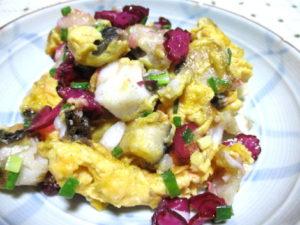 メジナのふわふわ卵炒め