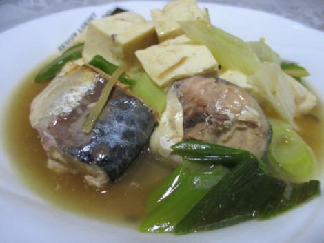 さばの水煮缶の簡単レシピ・さば豆腐