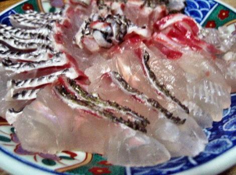 桜鯛の四種盛り