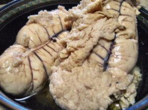 チヌの真子の甘辛煮