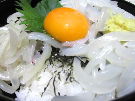 ヤリイカ丼