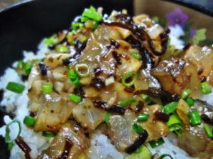 鯛の中華風タルタル丼