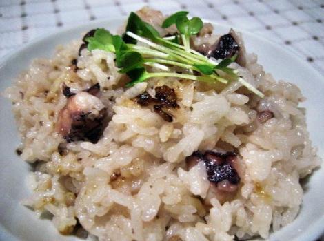 タコの簡単おいしいレシピ・たこ飯