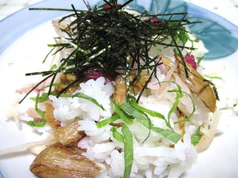 カツオ生節の混ぜご飯
