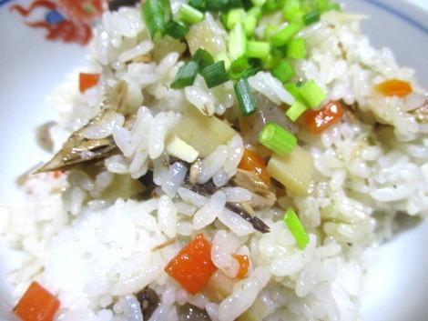 かつお生節と根菜の混ぜご飯