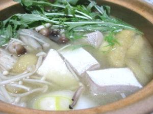 ぶりかまの味噌鍋