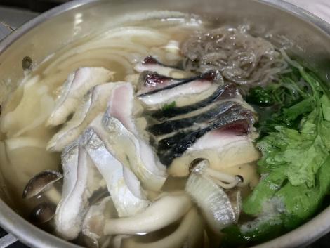ハガツオのいり焼き鍋