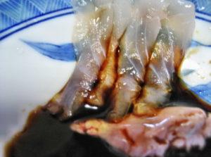 カワハギの生肝醤油