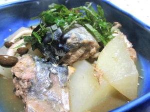 鯖缶と大根の旨煮