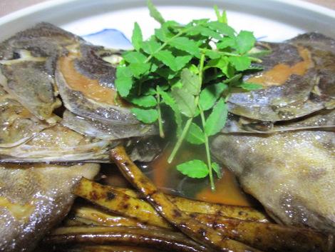 石鯛のかぶと煮