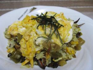 くぎ煮と高菜のチャーハン