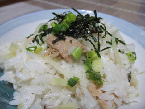 ツナと生姜の炊き込みご飯