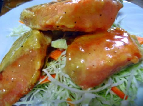 鮭の切り身の簡単レシピ・鮭マヨ