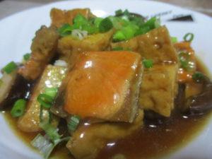 塩鮭と厚揚げの中華煮込み
